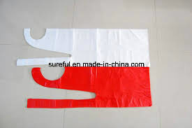Disposable PE Apron Red
