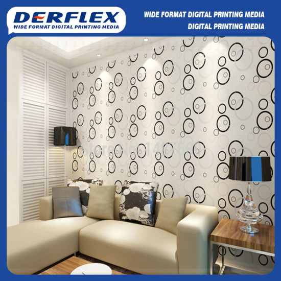 Embossed Vinyl Wallpaper for HP Latex Digital Print Decoration pictures & photos