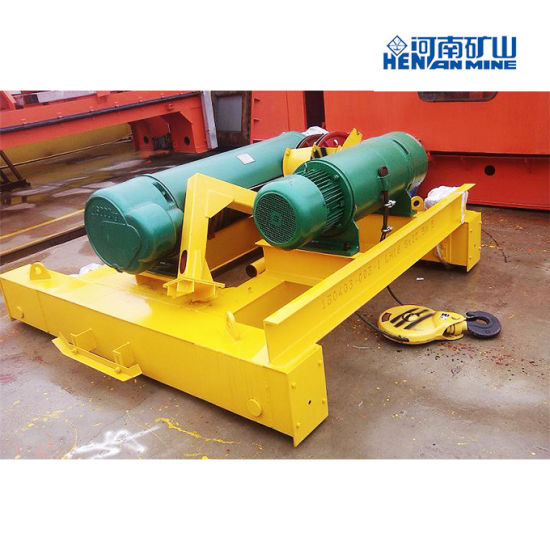 Hot Sale 2t-32t Single Rail Trolleys Electric Wire Rope Hoist