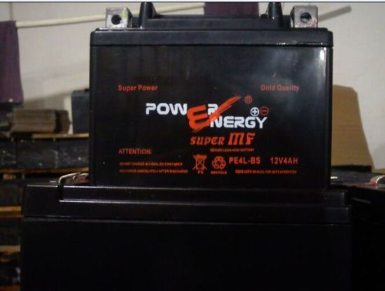 PE4 12V4ah Sealed Lead Acid Maintenance Free Motorcycle Battery pictures & photos
