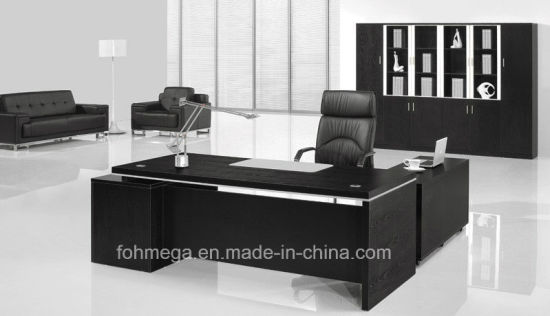 Black Melamine Executive Table Modern Office Furniture Suit Pictures Photos