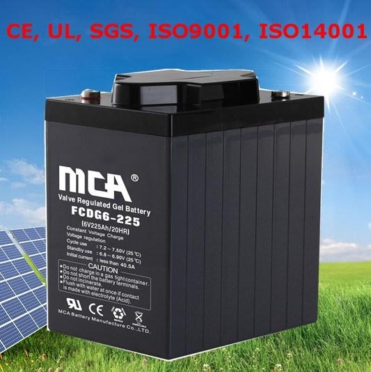 Good Quality Solar Battery Storage Battery Boat Battery Marine Battery 6V225ah