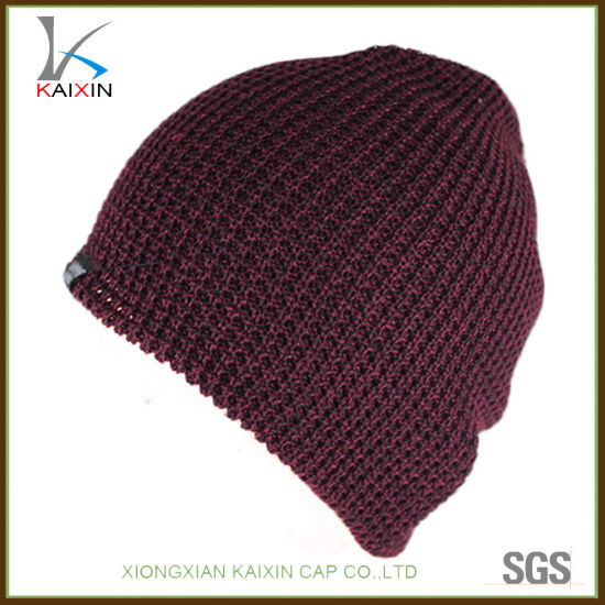 5c3e0b061c8 China Promotional Custom Slouchy Beanie Acrylic Winter Cap - China ...