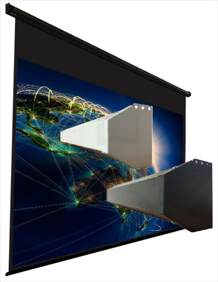 China Large Size Electric Projector Screen/Big Motorized Projection