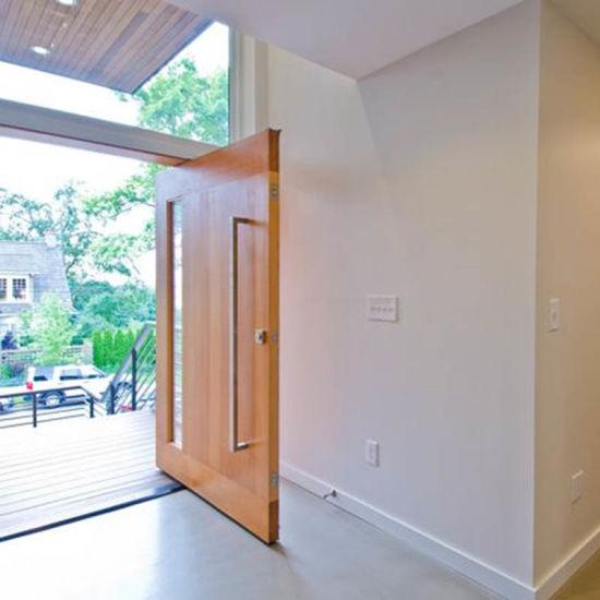 China Modern Pivot Design Oak Solid Wood Front Doors China Solid Wood Entry Doors Solid Oak Front Doors