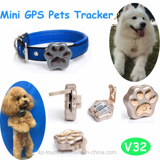 IP66 Waterproof Wireless Charge Pets GPS Tracker with Multiple Accurate Positioning V32