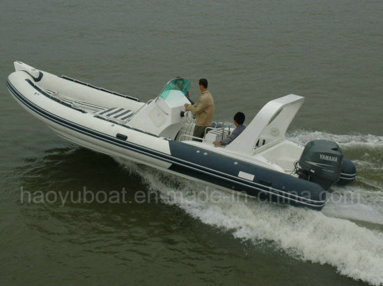 Haoyu Boat 25FT 7.6m Inflatable Rib Boat Rescure Boat Fishing Boat Rigid Hull Boat Hypalon