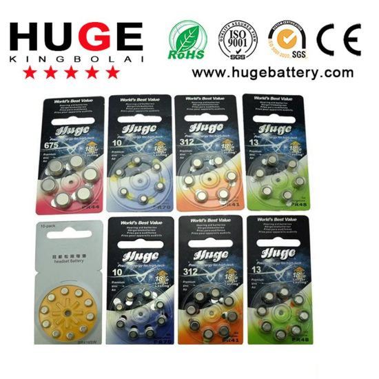 8PCS Blister Package Zinc Air Battery/Hearing Aid Battery (A10/A13/A312/A675)
