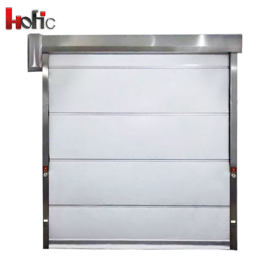 China High Speed PVC Rolling Shutter Industrial Door with Stainless ...