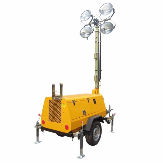 China Industrial Portable Light Tower Mobile Trailer Light Tower for Sale -  China Mobile Light Tower, Light Tower
