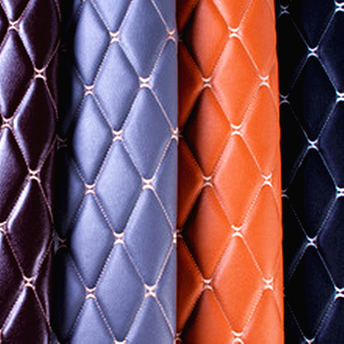 3D Embroidered Artificial Synthetic PU PVC Leather for Sofa/Car Seat/Door/Bag/Garment/Wall /Furniture