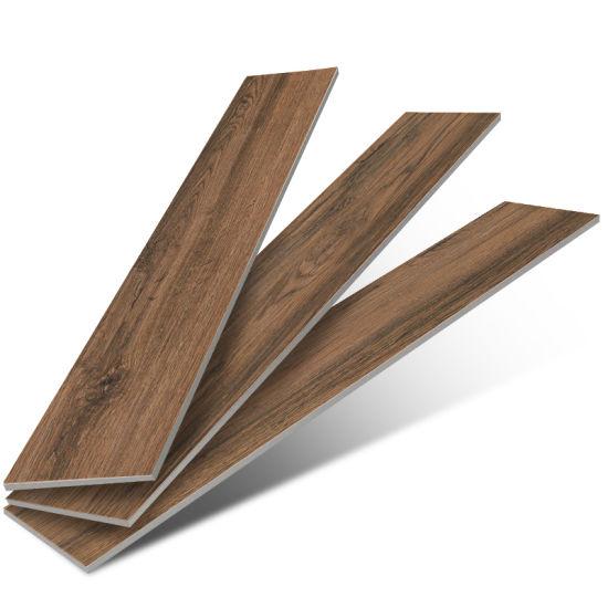 China Interior Wooden Brown Color Floor Tiles Wood Pattern Floor