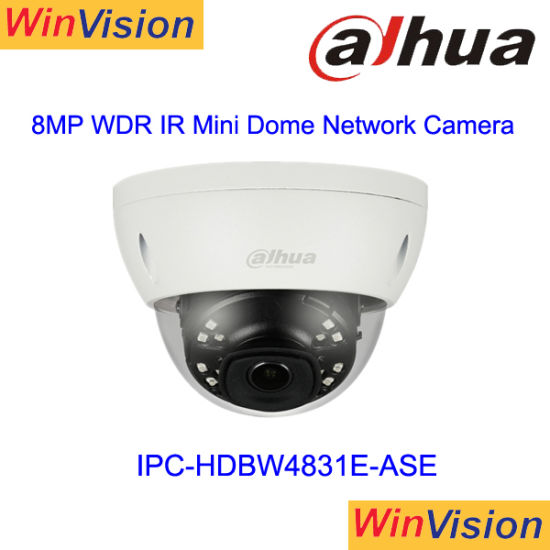 Dahua 8MP IP Camera 4K H.265 POE IR Audio Alarm IP67 TF IPC-HDBW4831E-ASE 4mm