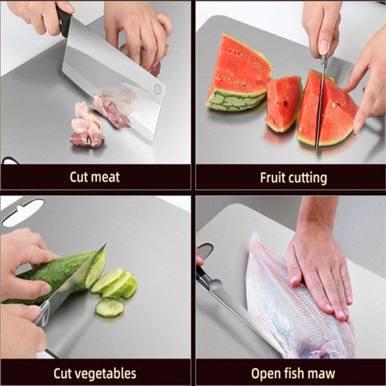Home Mini 304 Sanitary Stainless Steel Kitchen Chopping Board