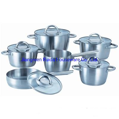 12PCS Conical Shape Stainless Steel Cookware Set with Stainless Steel Handle