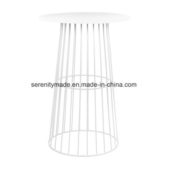 Outdoor Use Round Metal Wire High Bar Table Furniture