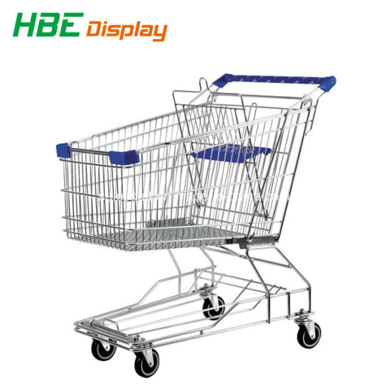 Ce Standard Supermarket Shopping Cart Trolley with Bottom Tray pictures & photos