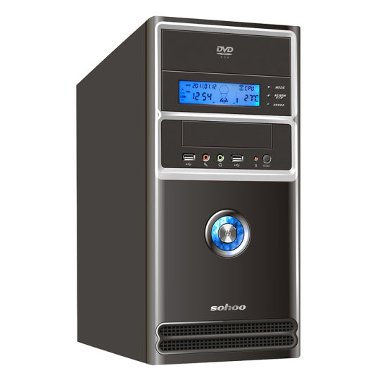 Computer Case with LCD Display, Micro ATX