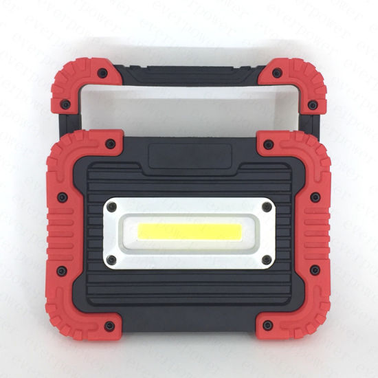 Plastic USB Rechargeable COB 10W LED Work Light with Power Bank pictures & photos