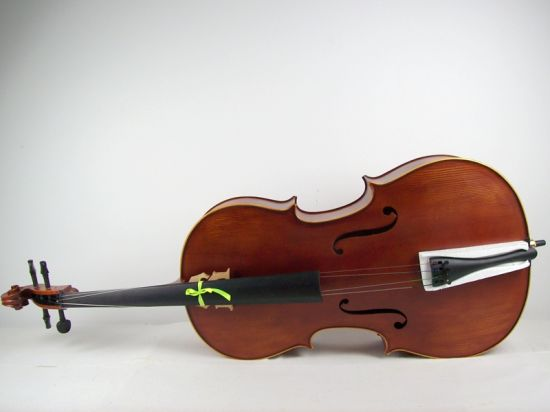 Handmade Oil Brown Purflied Inlaid Solid Flame Maple Cello pictures & photos