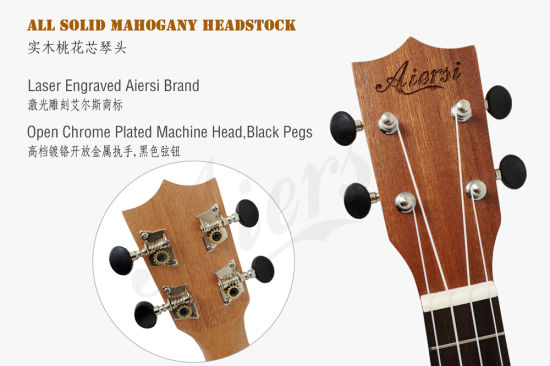 Wholesale Price Aiersi Brand Various Style Soprano Ukulele pictures & photos
