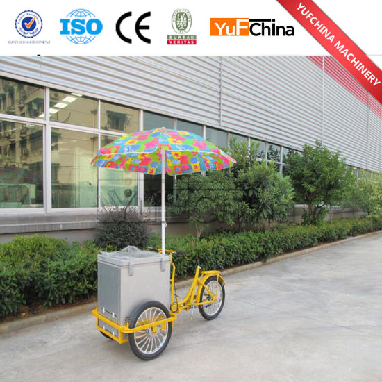 New Style Ice Cream Mobile Cart with Wheels for Sale pictures & photos