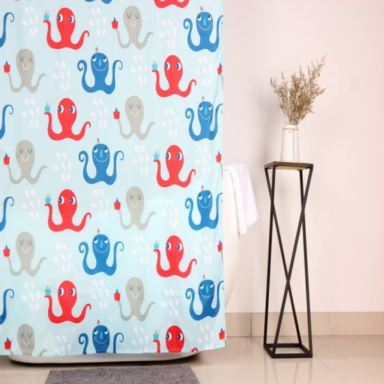 Wholesale Printed Fabric Bathroom Shower Window Curtain for Custom pictures & photos
