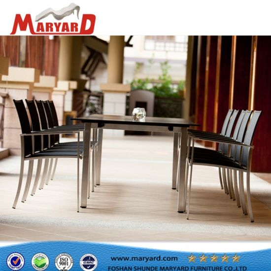 High Quality Stainless Steel Dining Set And Outdoor Dubai Dining Tables And Chairs  Furniture