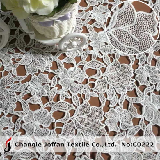 Garment Accessories Polyester Guipure Lace Fabric Chemical Embroidery Lace (C0222)
