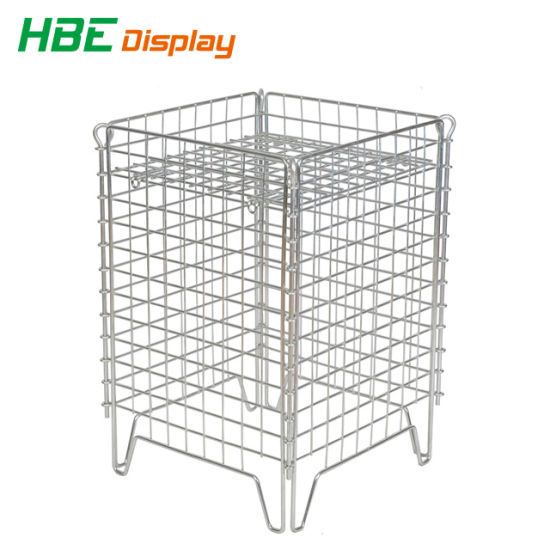 Heavy Duty Industrial Wire Mesh Pallet Cage with Wooden Pallet pictures & photos