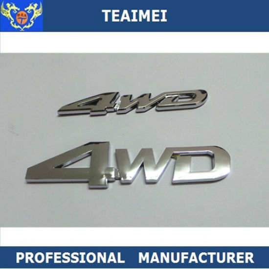 China ABS Plastic 3D Letter Sticker Custom Car Emblem Badges