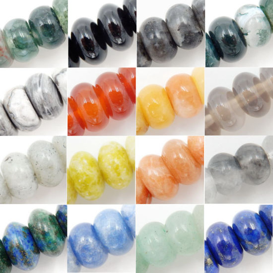 Wholesale Semi Precious Roundel Gemstone Beads (4*6mm and 5*8mm)