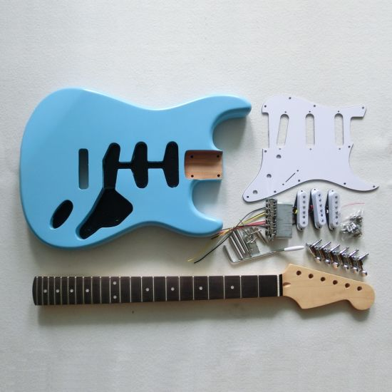 Quality Alder Canadian Maple Neck Diy Strat Guitar Kits