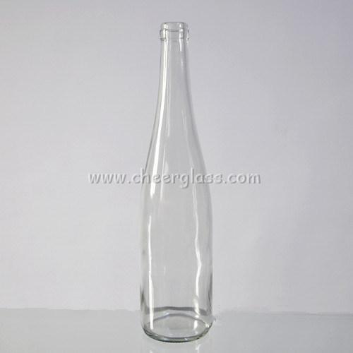 700ml Glass Large Capacity Klein Bottle Customized Printed Bottle with Cork Finish