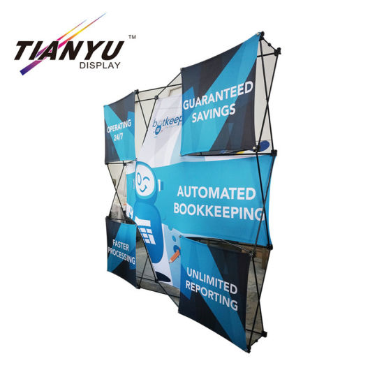 Eye-Catching Tension Fabric Display Folding Pop up Stand