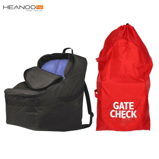 Durable Red Large Stroller Car Seat Travel Bag Gate Check