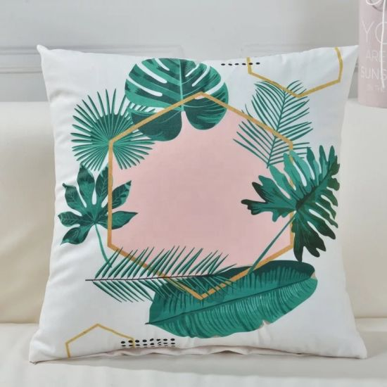 Luxury Chair Decorative Square Household Green Sofa Printed Throw Pillow Cushion