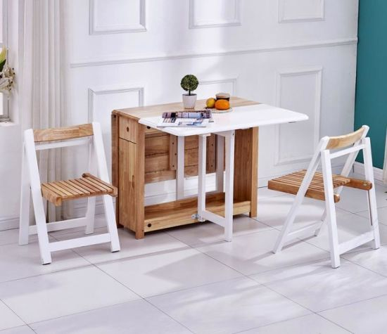 Creative Modern Wood Dining Table And, Wood Folding Dining Room Table And Chairs