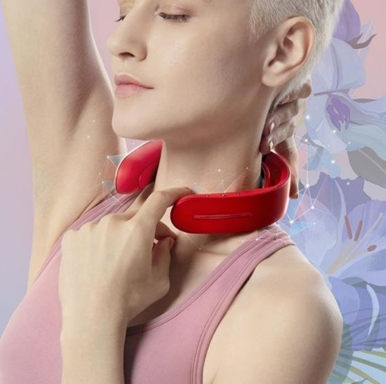 2020 New Arrivals Portable Mini Electric Wireless Neck Massager 360 Infrared Physiotherapy Intelligent Neck Massager