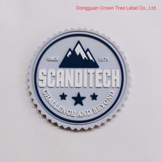 Circular Silicone Label Scajditech for Garment Accessories