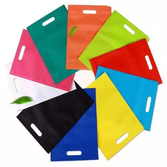 100%PP Nonoven Fabric Material D-Cut Bag Non-Woven D-Cut Shopping Bags