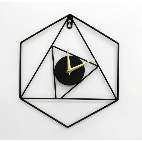 Metal Hexagonal Wall Clock 27.5X32X3.5cm Metal Art Wall Clock, Home Decor, Metal Decor, Metal Art, Home Decor Craft, Home Decoration