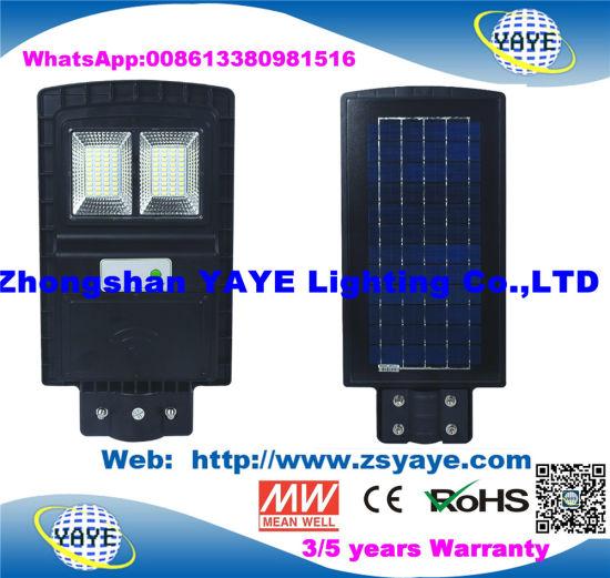 Yaye Hot Sell 30W/30W/90W Human Sensor Solar LED Street Light / Motion Sensor Street Light /Road Lamp with 2/3/5 Years Warranty