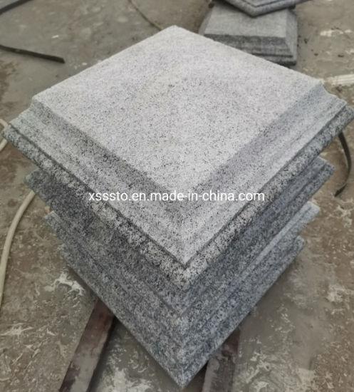 G602 Grey Irregular Cap Stone of Bush Hammered and Steps