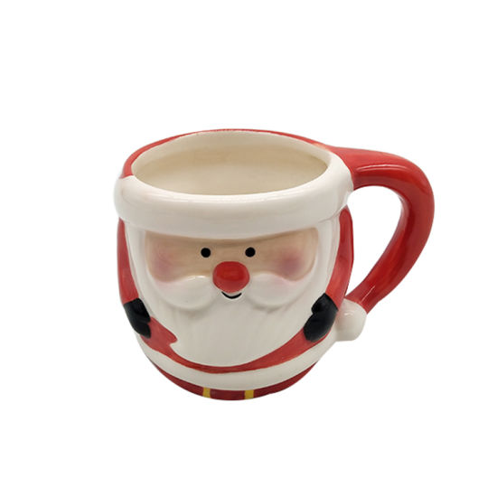 Colorful Custom Printed Christmas Ceramic Cup with Handle Christmas Coffee Cup Wholesale pictures & photos