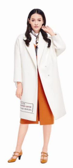 Wholesale Chinese Famous Brand Lady Wear Causal Office Warm Coat Dress