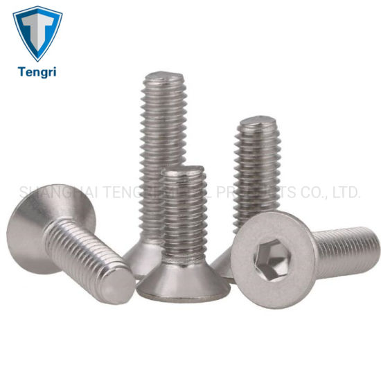 M5 Hexagon Countersunk Head Flat Screw 304 Stainless Steel Various Sizes DIN7991