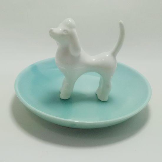 Promotion Dehua Ceramic Trinket Tray Jewelry Dish Craft Gift for Decor