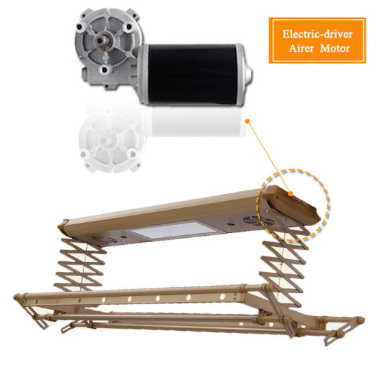 DC 12V 24V Worm Gear Reducer Electric Motor for Clothes Drying Rack