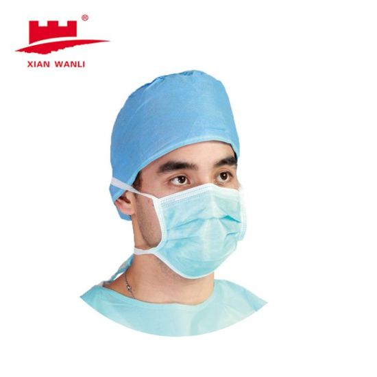 Tie Mask Disposable Mask Disposable Medical Nonwoven 3 Ply Earloop Tie Face Mask Tie Mask with Shield